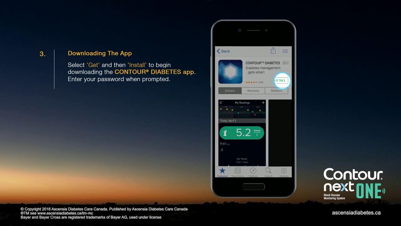 CONTOUR® NEXT ONE - How To Download the Contour Diabetes App - YouTube