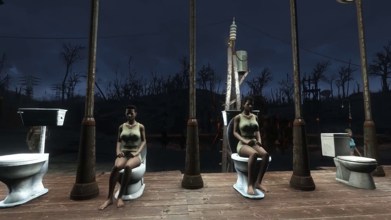 Working Bathrooms Settlement Mod For Fallout 4 Showers Toilets Sinks More