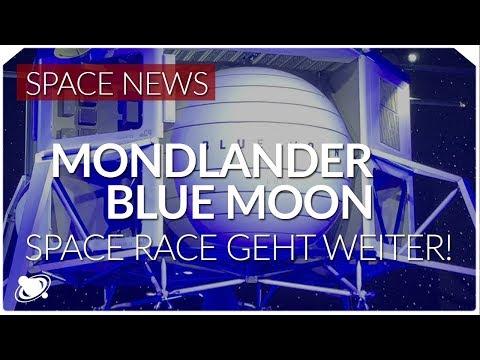 Mondlander Blue Moon setzt Space Race fort   Spacenews (2019)