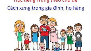 Học tiếng Trung giao tiếp - Chủ đề cách xưng hô trong gia đình, họ hàng  -  Tiếng Trung 518