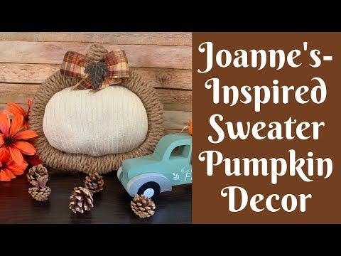 Dollar Tree Fall Crafts: Joanne's Inspired Sweater Pumpkin Decor