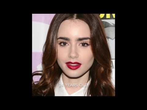 Lily Collins age 1 to 28