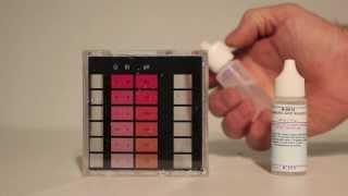 Swimming pool water Cyanuric Acid (CYA) test.