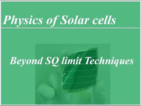Session 3: Techniques for overcoming SQ limit    Beyond 50% efficiency solar cells