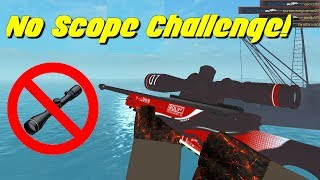 AWP No Scope Only Challenge! (Counter Blox)