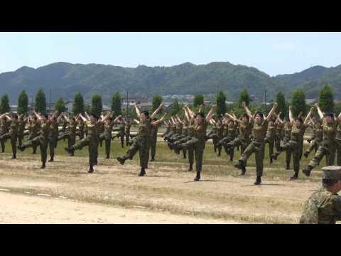 女性自衛官 自衛隊体操 陸上自衛隊 大津駐屯地 2014