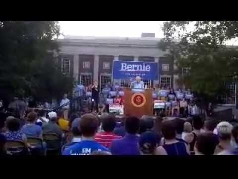 Bernie Sanders Speaks at Coe College  in Cedar Rapids Iowa Part 2