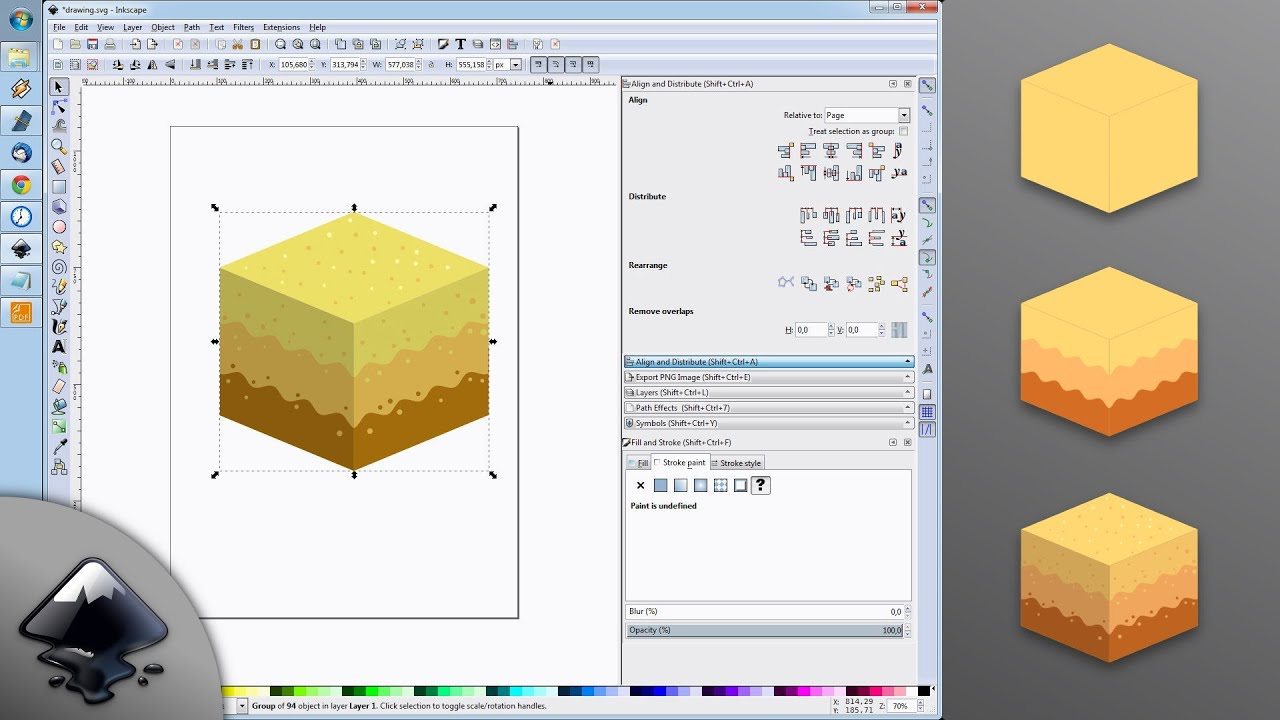 Isometric Block Tile Desert Inkscape 2d Game Art