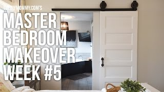 Master Bedroom Makeover Week 5 // BARN DOOR INSTALLATION // One Room Challenge