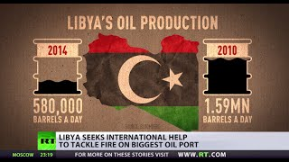 'Fire at Libya's largest oil port may destroy country's economy'