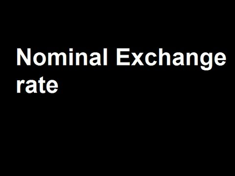 1 Nominal Exchange rate