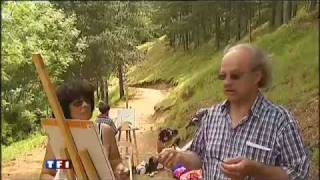 Stage de peinture au camping La Cascade Meyrueis Lozère