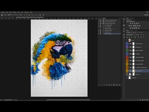 Drop Letter Painting Photoshop Action