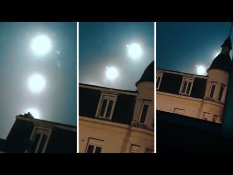 ¿Misteriosos 3 orbes en Bélgica?