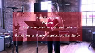 Aware for flute, recorded voices, and electronics (Nathalie Joachim)