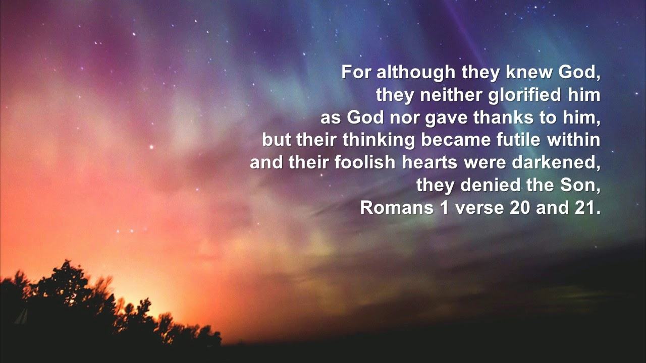 Image result for romans 1:20-21