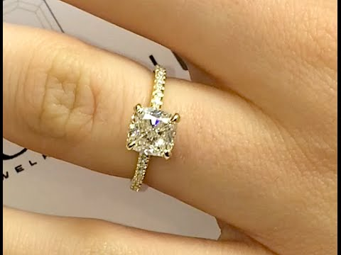 Cushion Cut Diamond Engagement Ring In Yellow Gold   YouTube