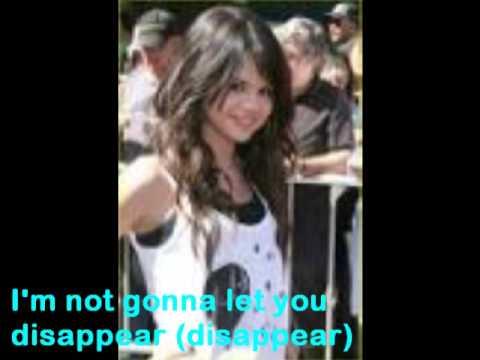 Selena Gomez-Disappear with lyrics