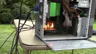 Torching A Computer (While It