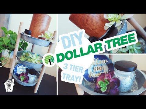 DIY DOLLAR TREE 3 TIER TRAY | DOLLAR TREE DIY