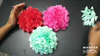 Paper flowers craft - wall hanging