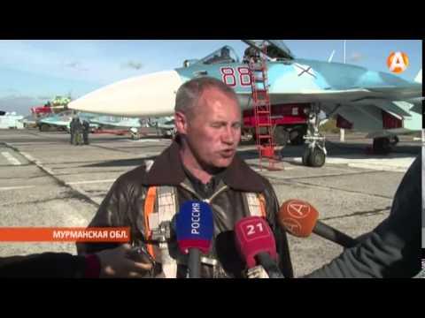 Лётчики  СФ вернулись из Крыма на родной аэропорт в Североморске-3 11.09.2015