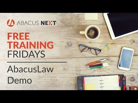 Free Training Friday: AbacusLaw Demo