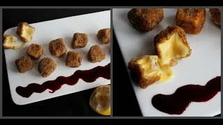 Сыр фри во фритюре с ягодным соусом