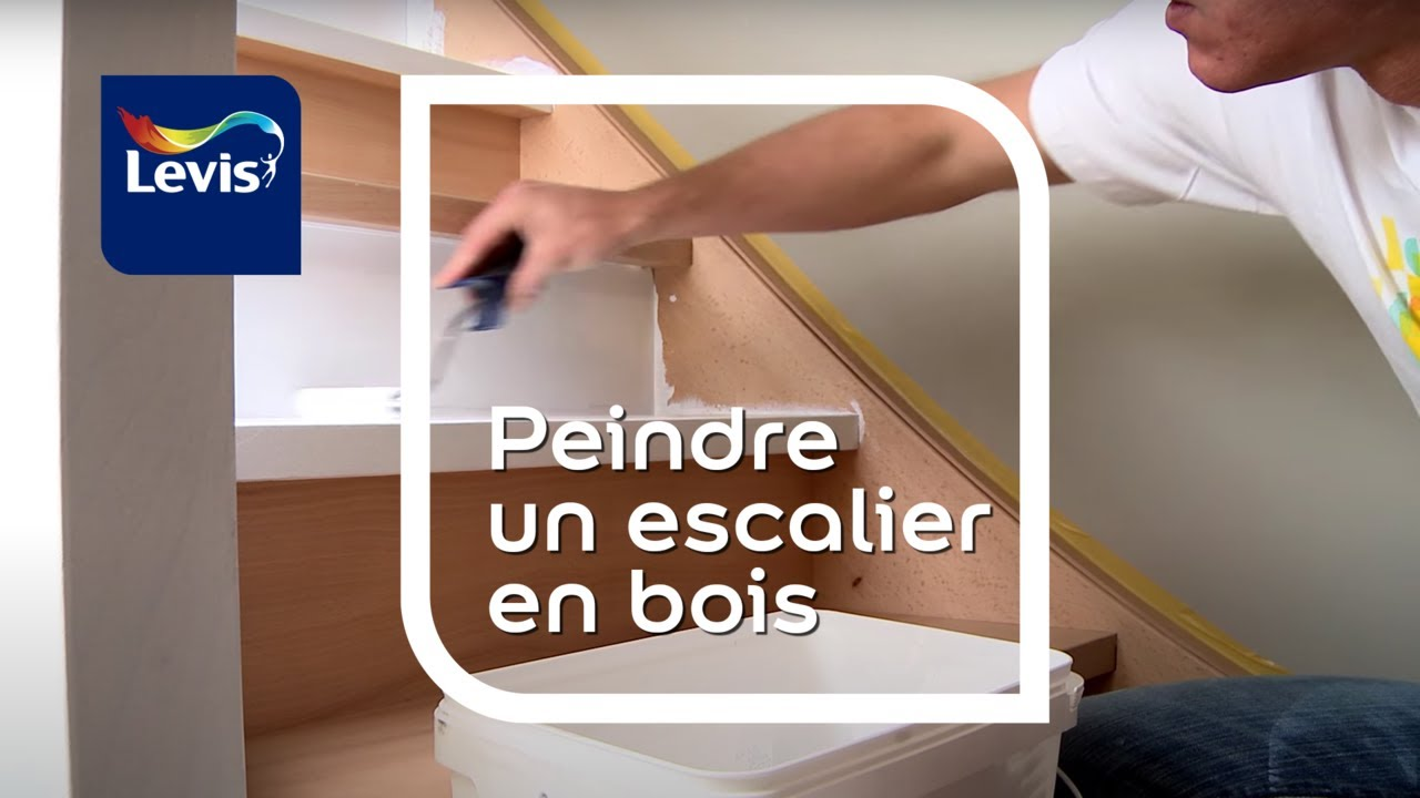 comment peindre un escalier en bois youtube. Black Bedroom Furniture Sets. Home Design Ideas