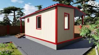 MedioBox: двухмодульный дачный дом с двумя входами