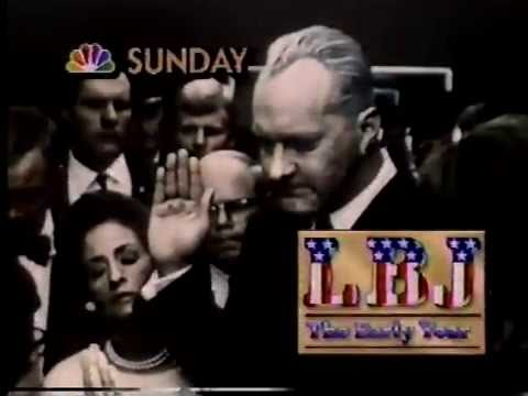LBJ The Early Years 1987 NBC Sunday Night At The Movies Promo