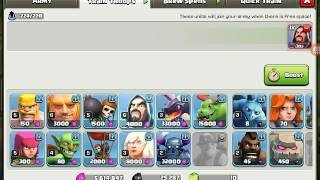 clash of clans troop glitch 1 gem 54 wizards and 4k elixer works on new update