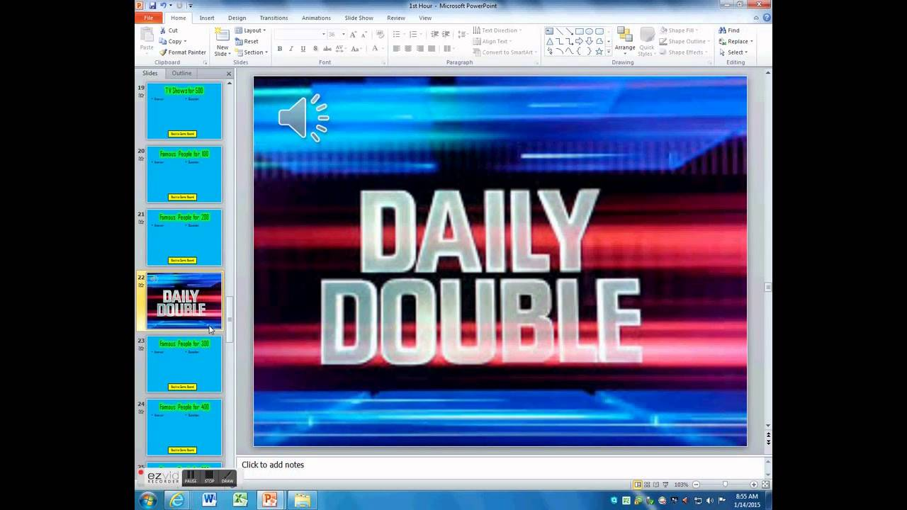 Powerpoint jeopardy adding daily doubles youtube powerpoint jeopardy adding daily doubles alramifo Choice Image