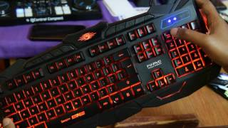 Product Demo & Review - Marvo Scorpion Black Light KM 400 Gaming Keyboard and Mouse Combo