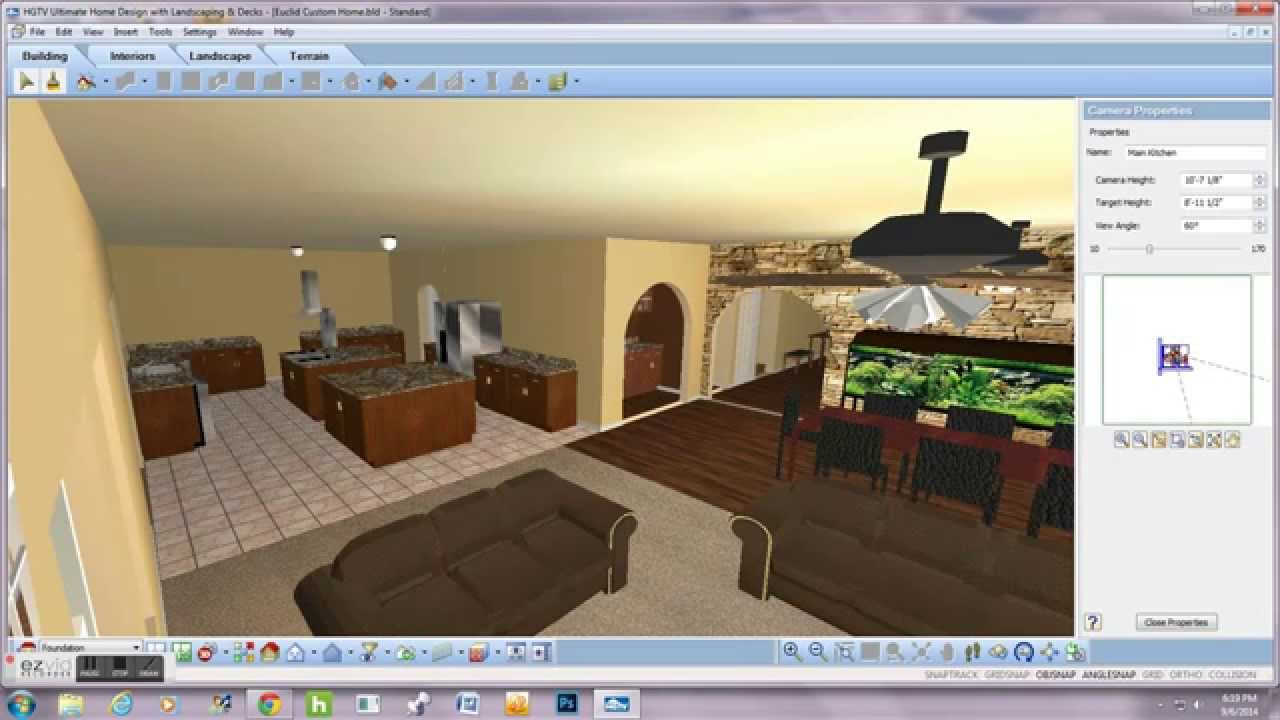 Hgtv ultimate home design 3 000 square ft home youtube for Virtual home software