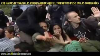 brutal carga de los mossos ordenada por ciu en barcelona causa 200 heridos