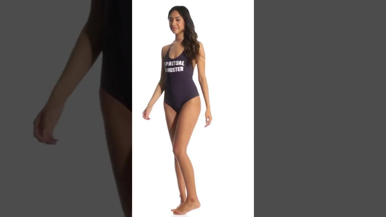 a489c185f30 Spiritual Gangster SG Retreat One Piece Swimsuit | SwimOutlet.com ...