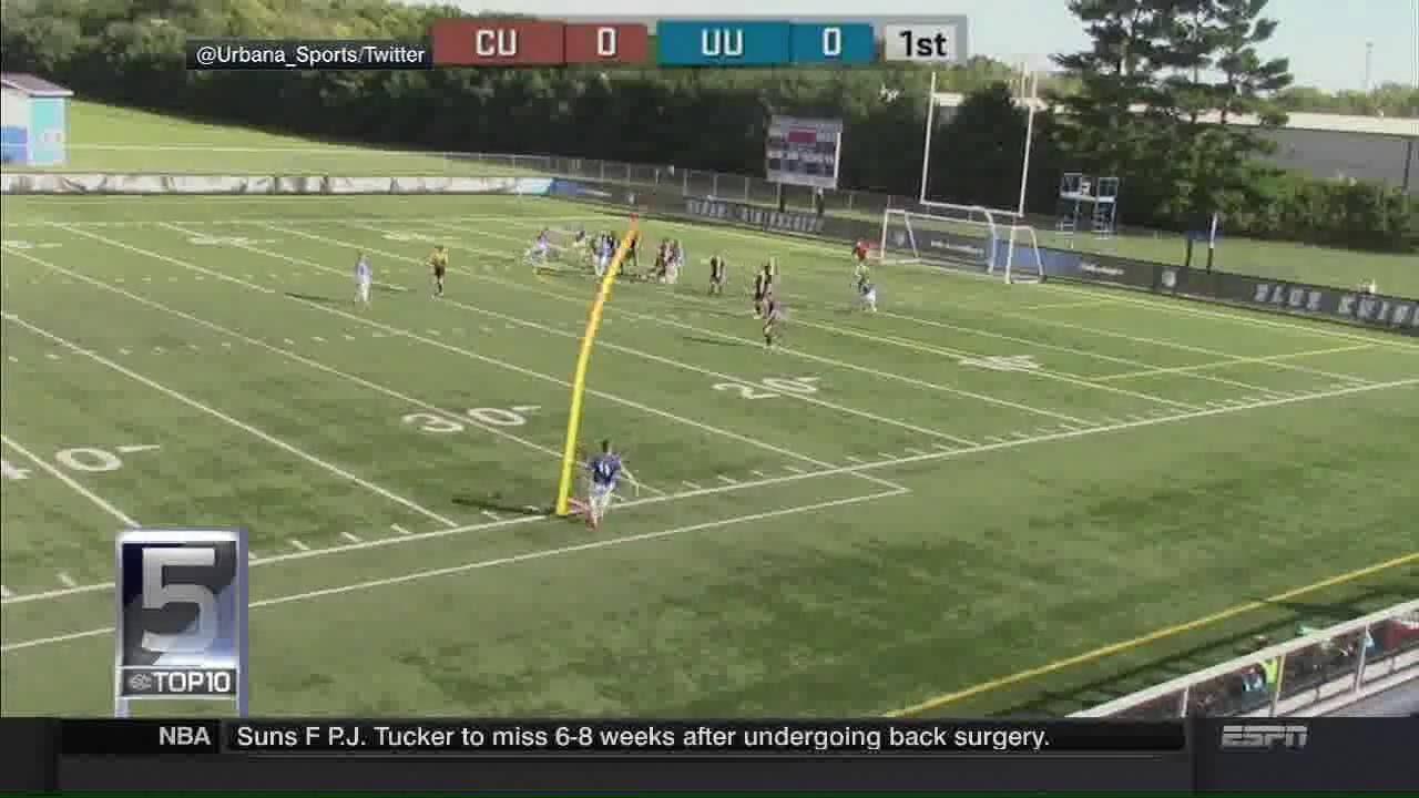 Urbana University's Soccer Goal Lands on #SCtop10 - YouTube