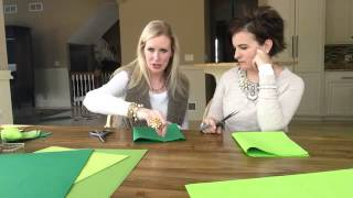 How to Make a Leaf Garland Banner Decoration using Tissue Paper
