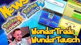 Pokemon Sun&Moon News WonderTrade / WunderTausch + GTS ist verfügbar
