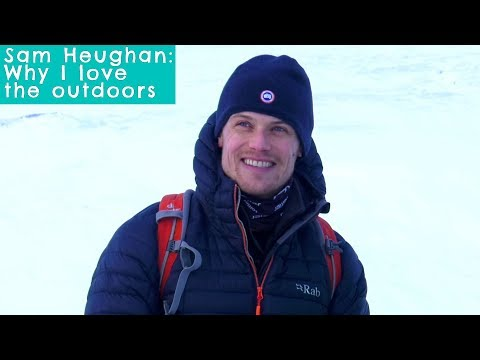 Sam Heughan heads for the Scottish mountains
