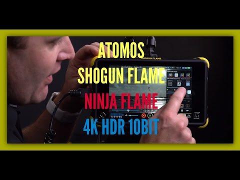 Atomos Shogun Flame & Ninja Flame - 4K HDR 10bit monitor 2016