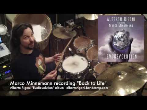 "Marco Minnemann recording drums on ""Back to Life"" (Alberto Rigoni's ""EvoRevolution"" album)"