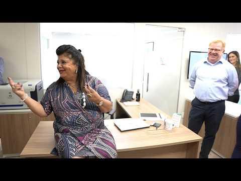 Luiza Helena Trajano, da Magazine Luiza, conhece a BenCorp e faz o Bentour pela empresa
