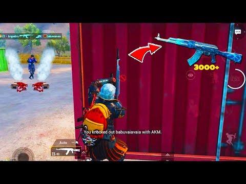 3000-damage-against-squads-using-akm-glacier-skin-in-pubg-mobile