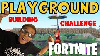 [Fortnite] Building Challenge i Playground