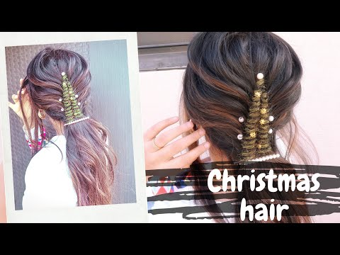 merry-christmas-/-christmas-tree-easy-hairstyle