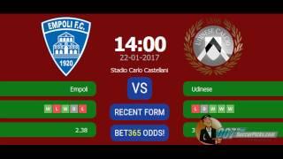 Empoli vs Udinese PREDICTION (by 007Soccerpicks.com)