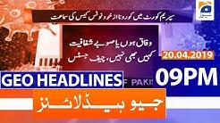 Geo Headlines 09 PM | 20th April 2020