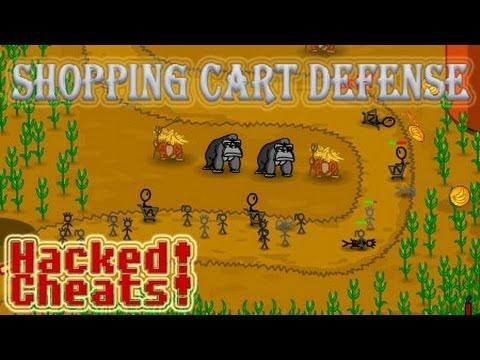 Shopping Cart Defense Walkthrough, Hacked Upgrades, Tips